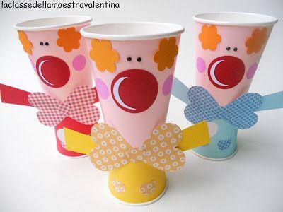 bicchieri carnevale clown