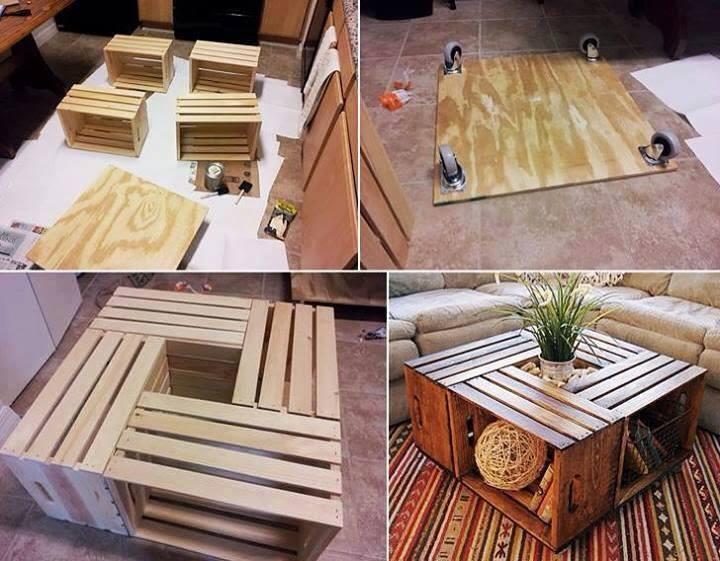 Come Creare Un Tavolino Da Salotto.10 Tavolini Da Caffe Fai Da Te In Materiali Riciclati