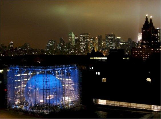 us american museum of natural history hayden planetarium nightview