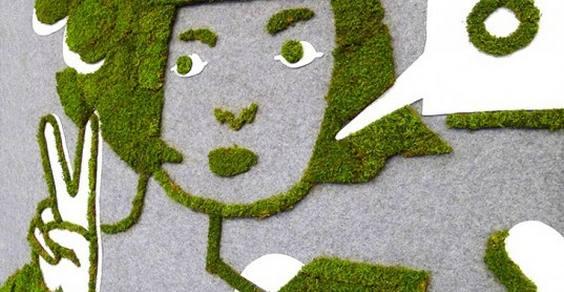 moss graffiti cover