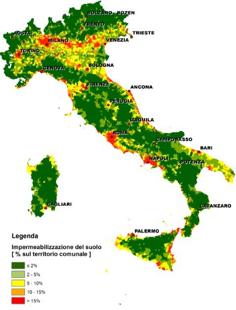 tabella imperm consumo suolo