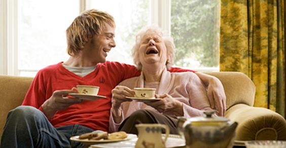 ridere anziani