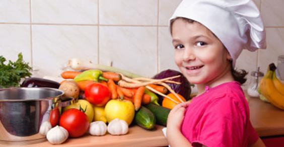 bambini cucinare verdure