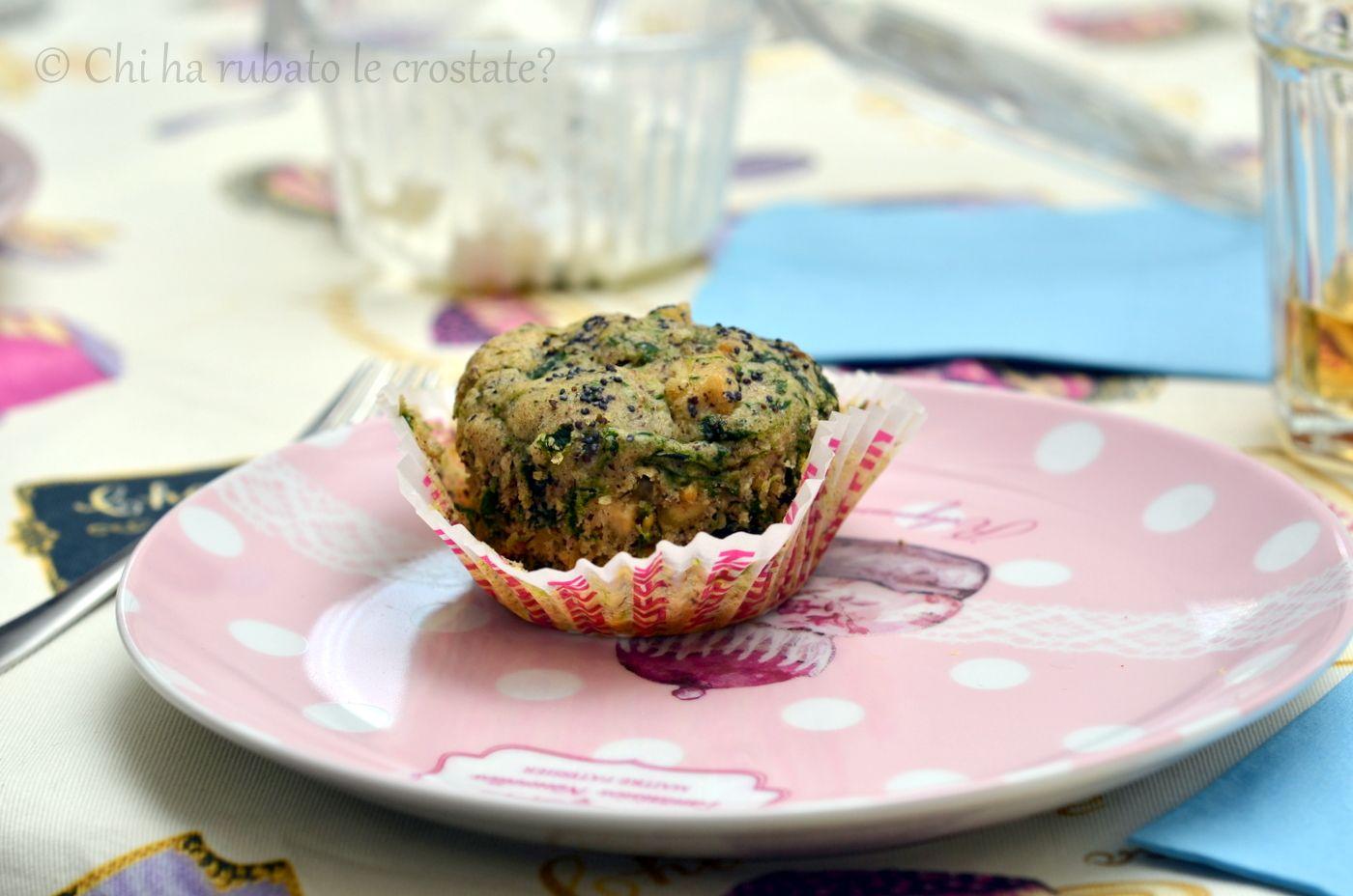 muffin salati tofu spinaci