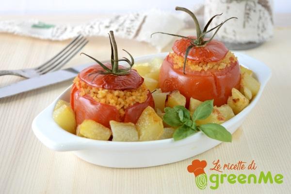 pomodori ripieni bulgur