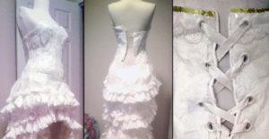 L'abito Carta Al Sposa Realizzato Da 100Con La Igienica Greenme it hrdCxtQBos