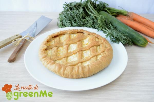 crostata con cetrioli e carote