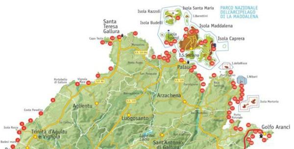 Cartina Sardegna Isola Rossa.Sardegna Le 15 Spiagge Piu Belle Della Gallura Costa Smeralda Esclusa Greenme