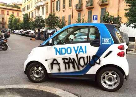 car2go parcheggi vaffanculo