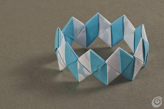 bracciale di carta origami
