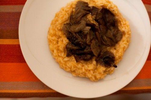risotto zucca funhi