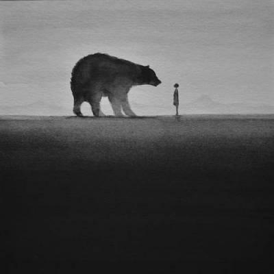 b2ap3_thumbnail_Elicia-Edijanto-dipinti-acquerelli-bianco-nero-rapporto-bambini-animali-natura-01.jpg