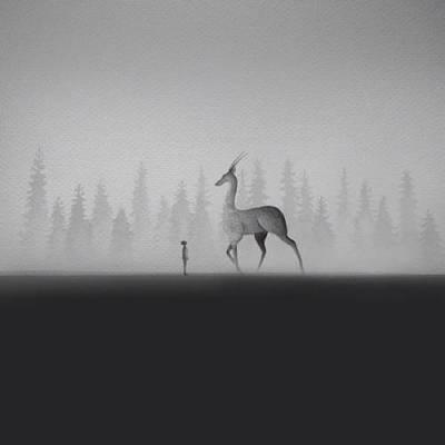 b2ap3_thumbnail_Elicia-Edijanto-dipinti-acquerelli-bianco-nero-rapporto-bambini-animali-natura-06.jpg