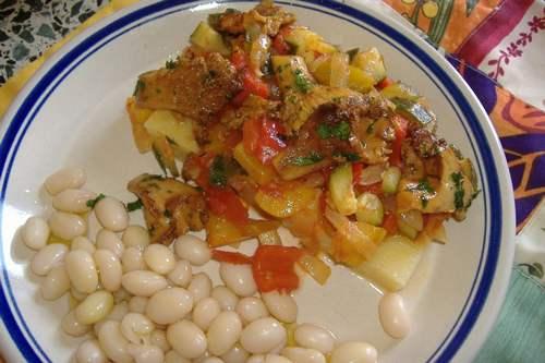 polenta vegan ratatouille