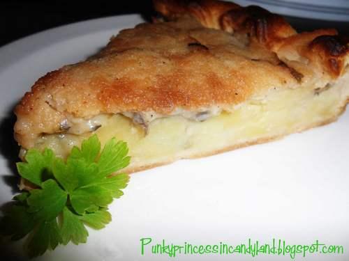 torta salata vegan funghi patate