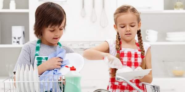 lavare piatti bambini allergie lavastoviglie