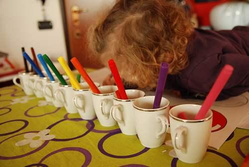 montessori gioco colori