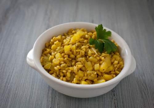 orzotto 1 porri patate zafferano
