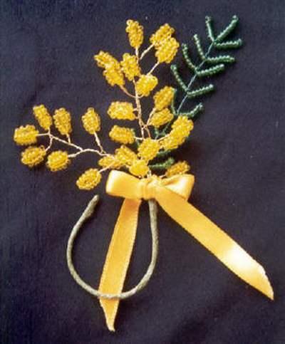 mimosa fai da te 8 perline