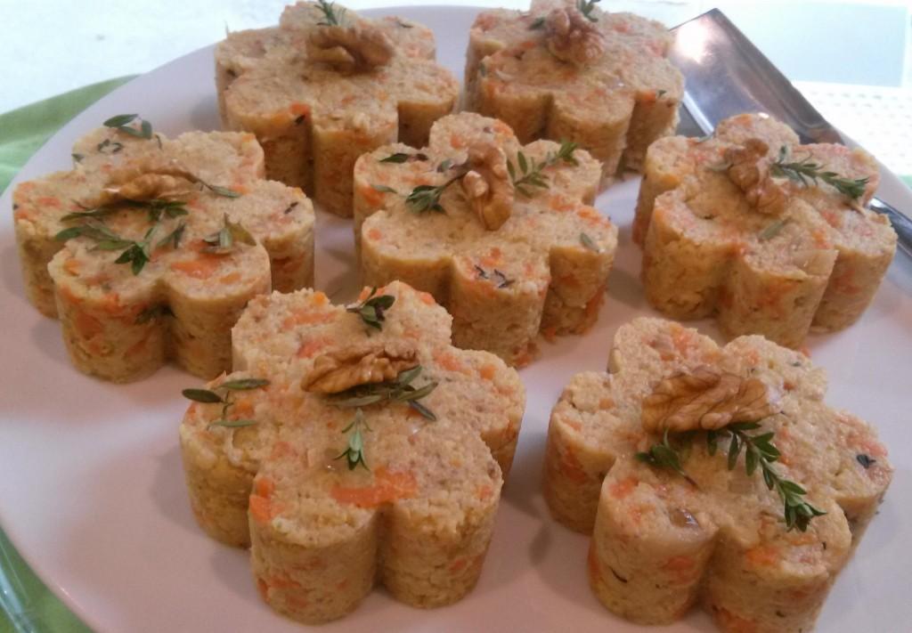 sformatini di miglio alle carote e noci