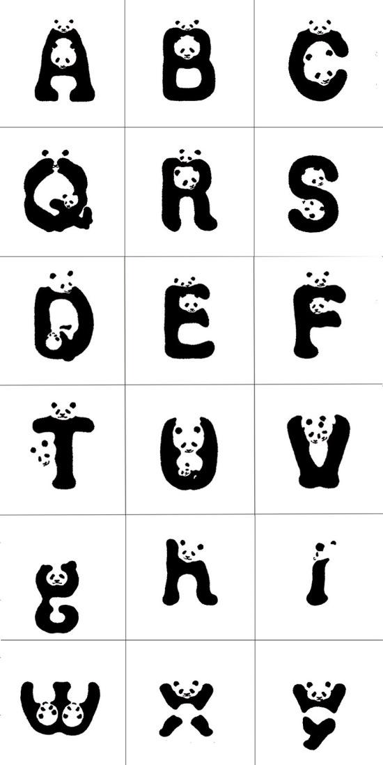 Panda-alfabeto