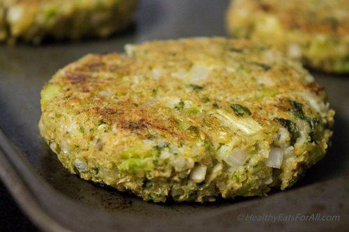 burger quinoa 6 broccoli