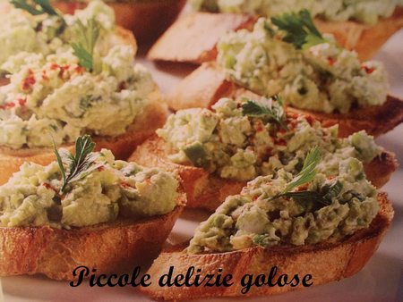 bruschette avocado