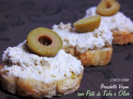 bruschette tofu olive