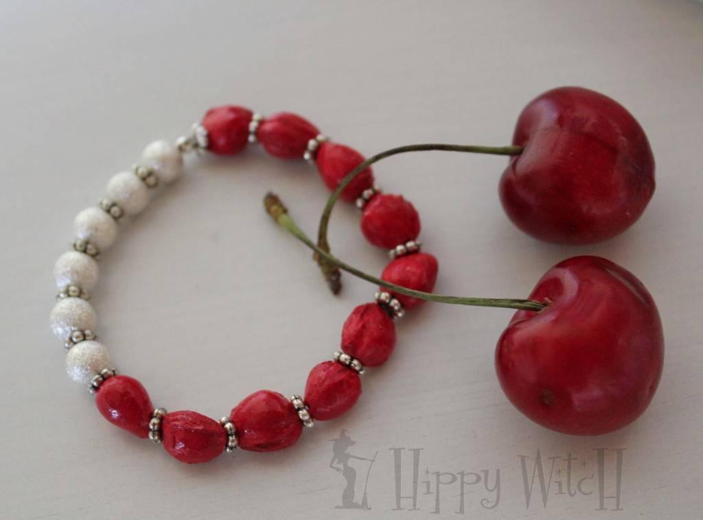 noccioli ciliegia 2 braccialetto