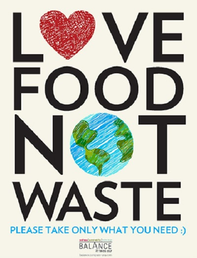 Love Food Not Waste poster