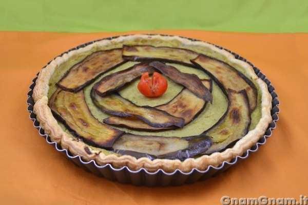 torta salata vegan 2 melanzane