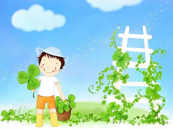 bambina verde