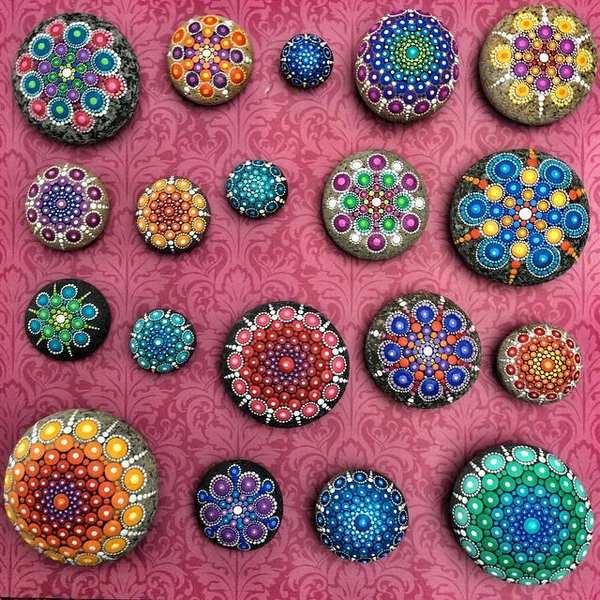 mandala stones dipingere 5