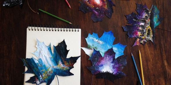 foglie decoro