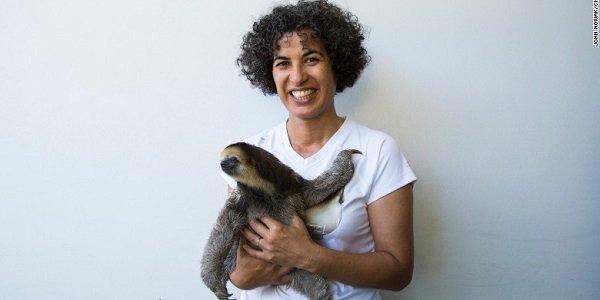 sloth lady 01
