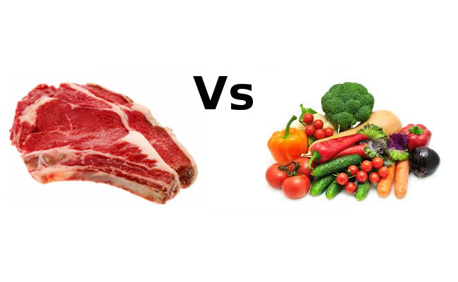 carne vs vegetali