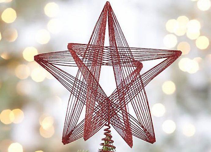 Come Decorare Una Stella Di Natale.Decorazioni Per L Albero Di Natale Come Creare Bellissime Stelle Con Un Semplice Filo Colorato Video Greenme It