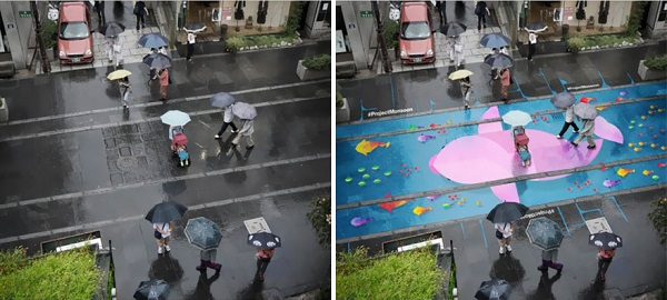 street murals appear rain south korea 10