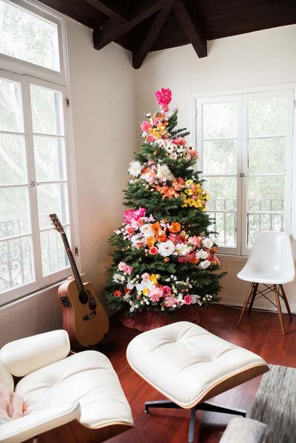 albero di natale fiori 1