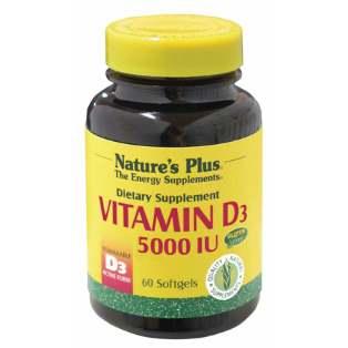 VITAMINA D3 5000 UI NATURES PLUS