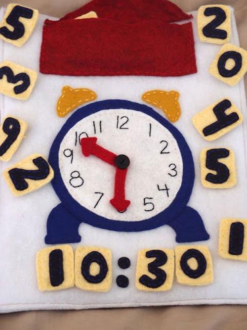 libro tattile orologio