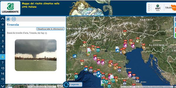 mappa interattiva clima città