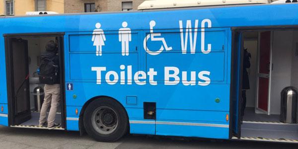 toilet bus cover