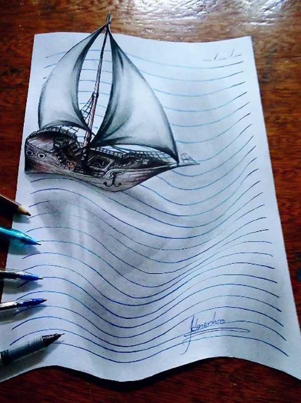 3d lines notepad drawings joao carvalho 12