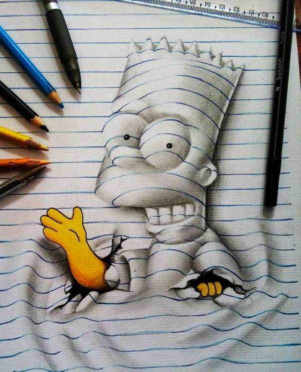 3d lines notepad drawings joao carvalho 16
