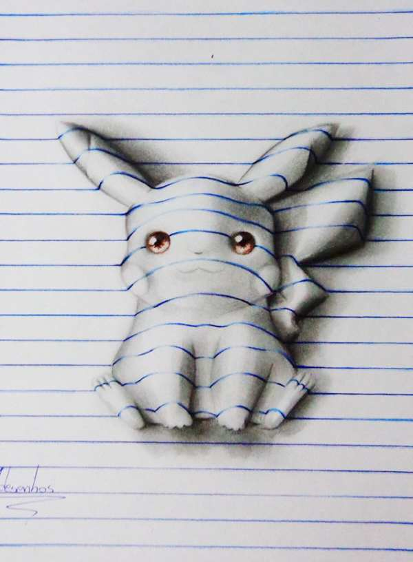 3d lines notepad drawings joao carvalho 22