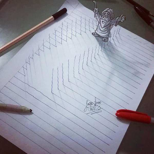 3d lines notepad drawings joao carvalho 27