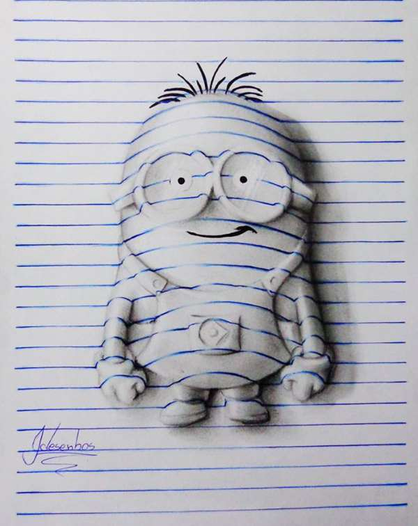 3d lines notepad drawings joao carvalho 3