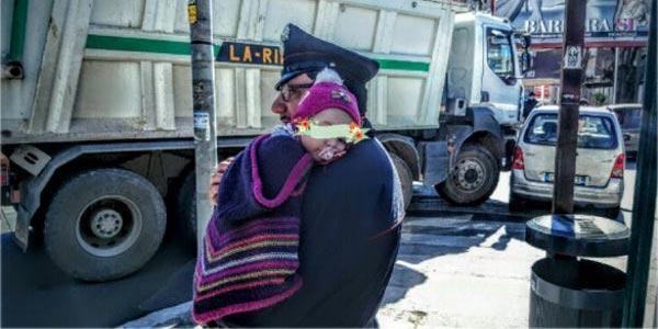 carabiniere bambina incidente