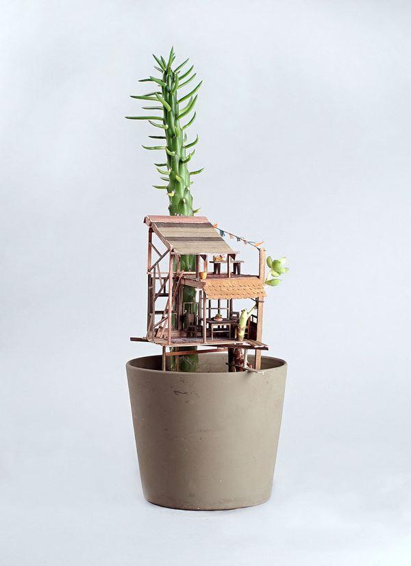 case albero miniatura 5